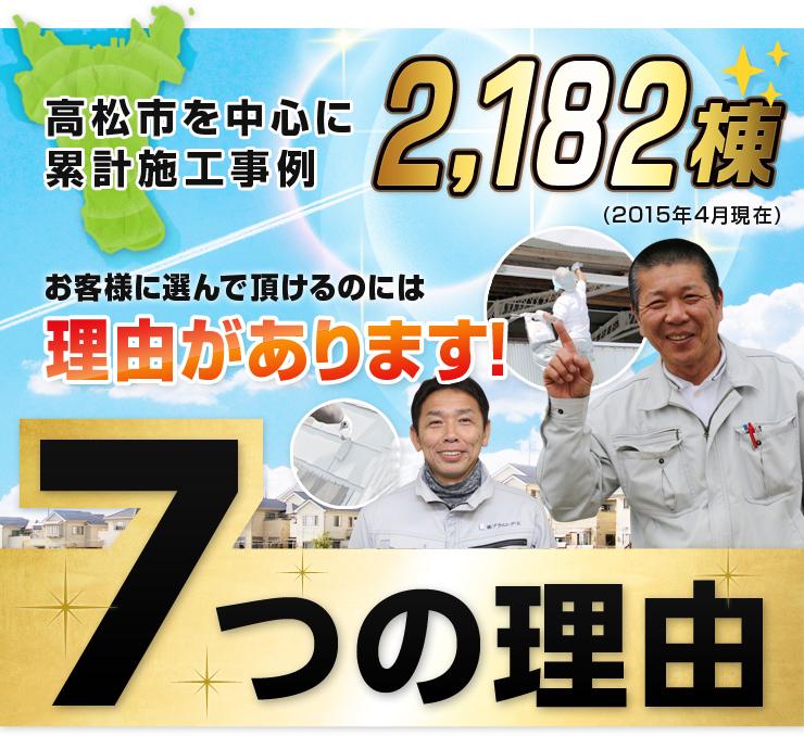 高松市を中心に累計施工事例2182棟。お客様に選んで頂けるのには理由があります!