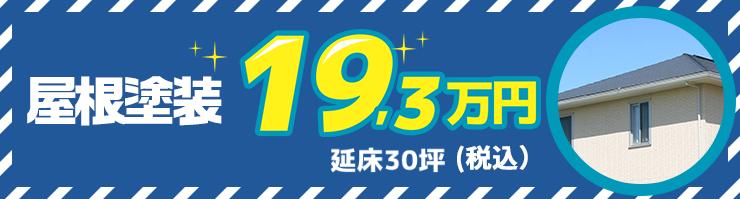 屋根塗装延床30坪17.5万円~